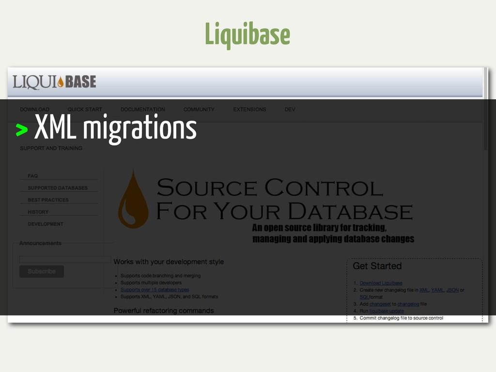 Liquibase > XML migrations