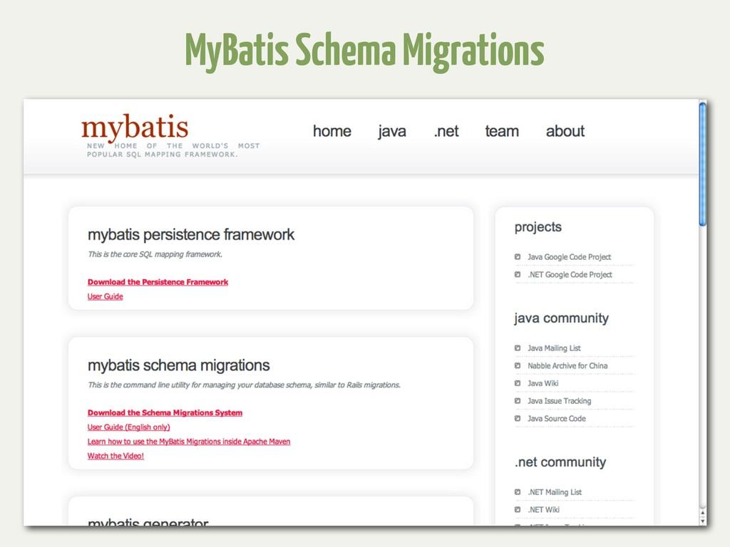 MyBatis Schema Migrations