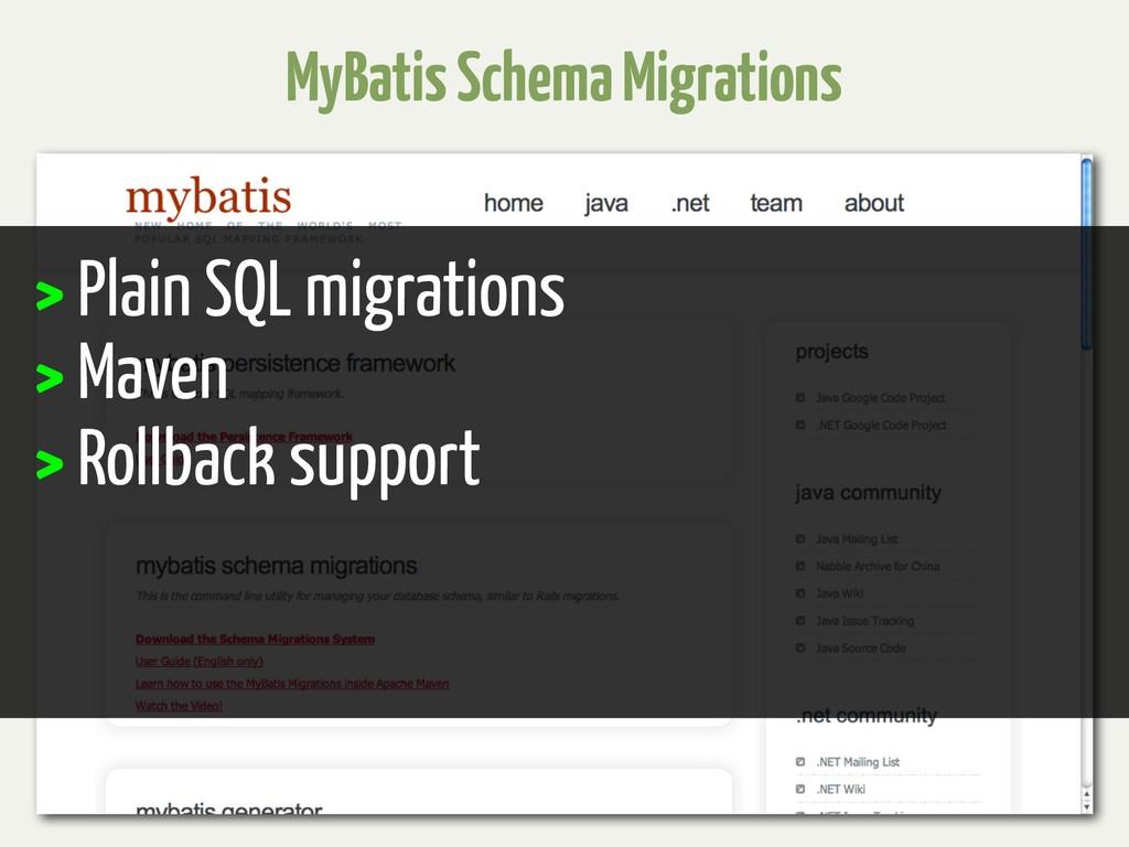 MyBatis Schema Migrations > Plain SQL migration...