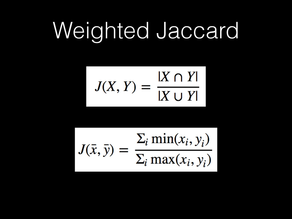Weighted Jaccard