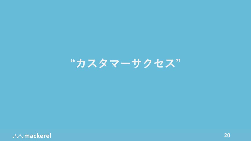 """20 """"カスタマーサクセス"""""""