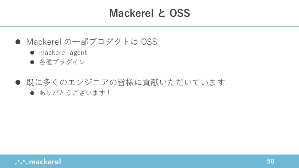 50 l Mackerel の⼀部プロダクトは OSS l mackerel-agent l ...