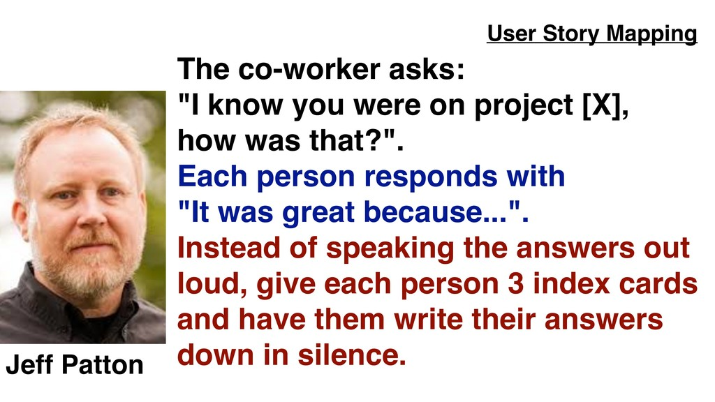 """The co-worker asks:  """"I know you were on proje..."""