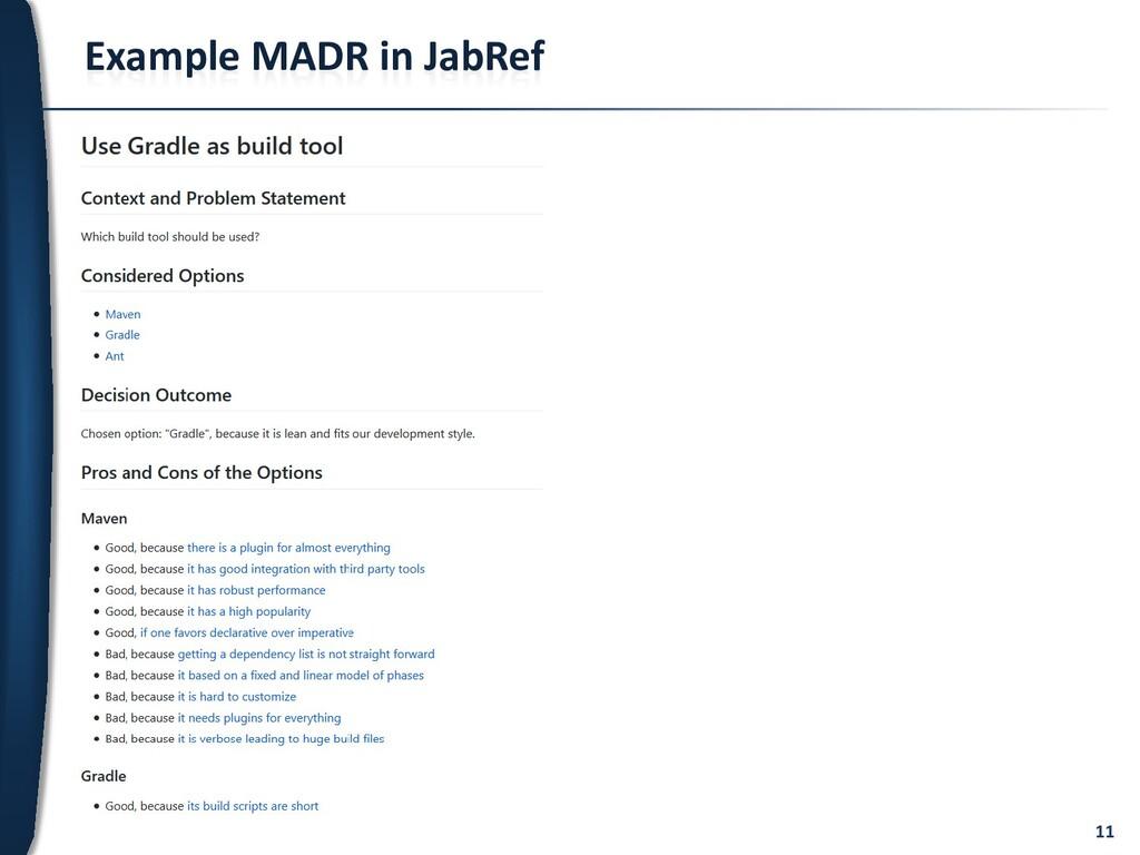 11 Example MADR in JabRef