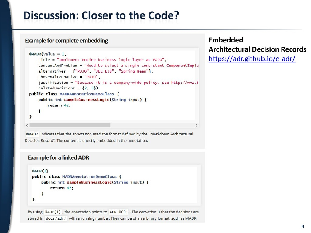 9 Discussion: Closer to the Code? Embedded Arch...