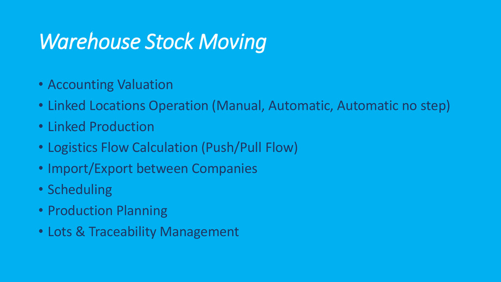 Warehouse Stock Moving • Accounting Valuation •...