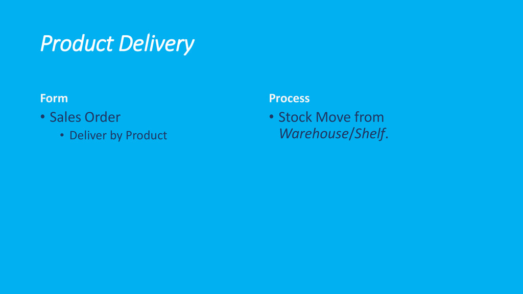 Product Delivery Form • Sales Order • Deliver b...