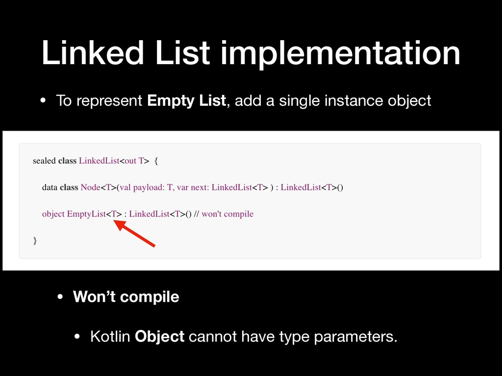 Linked List implementation • To represent Empty...