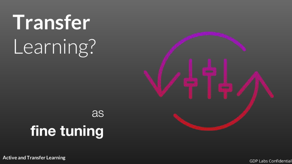 Transfer as fine tuning Active and Transfer Lea...