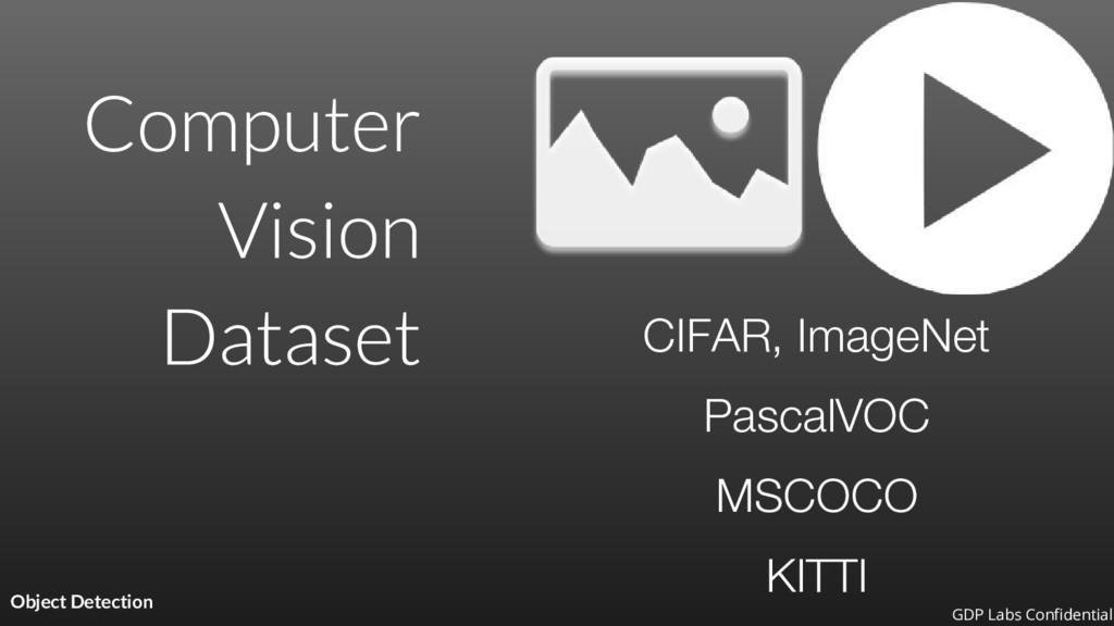 Object Detection CIFAR, ImageNet PascalVOC MSCO...