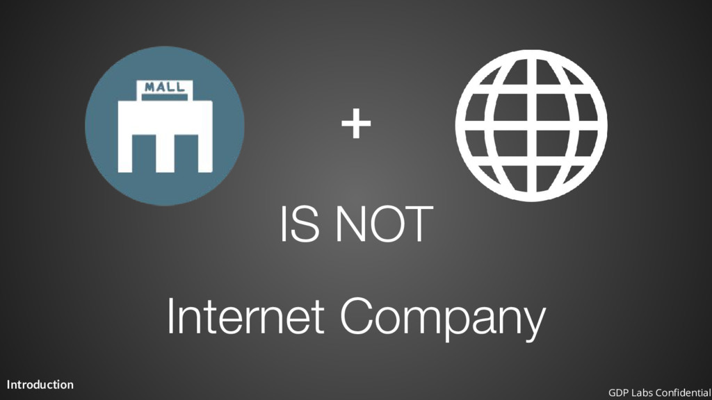Introduction + Internet Company IS NOT GDP Labs...