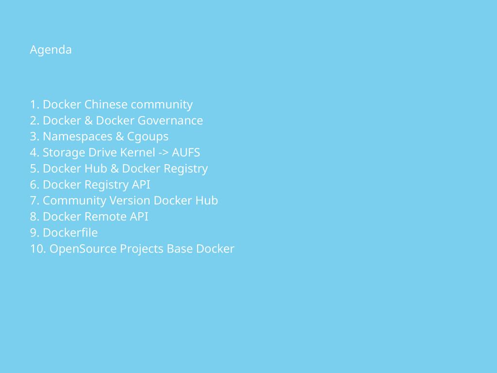 1. Docker Chinese community 2. Docker & Docker ...