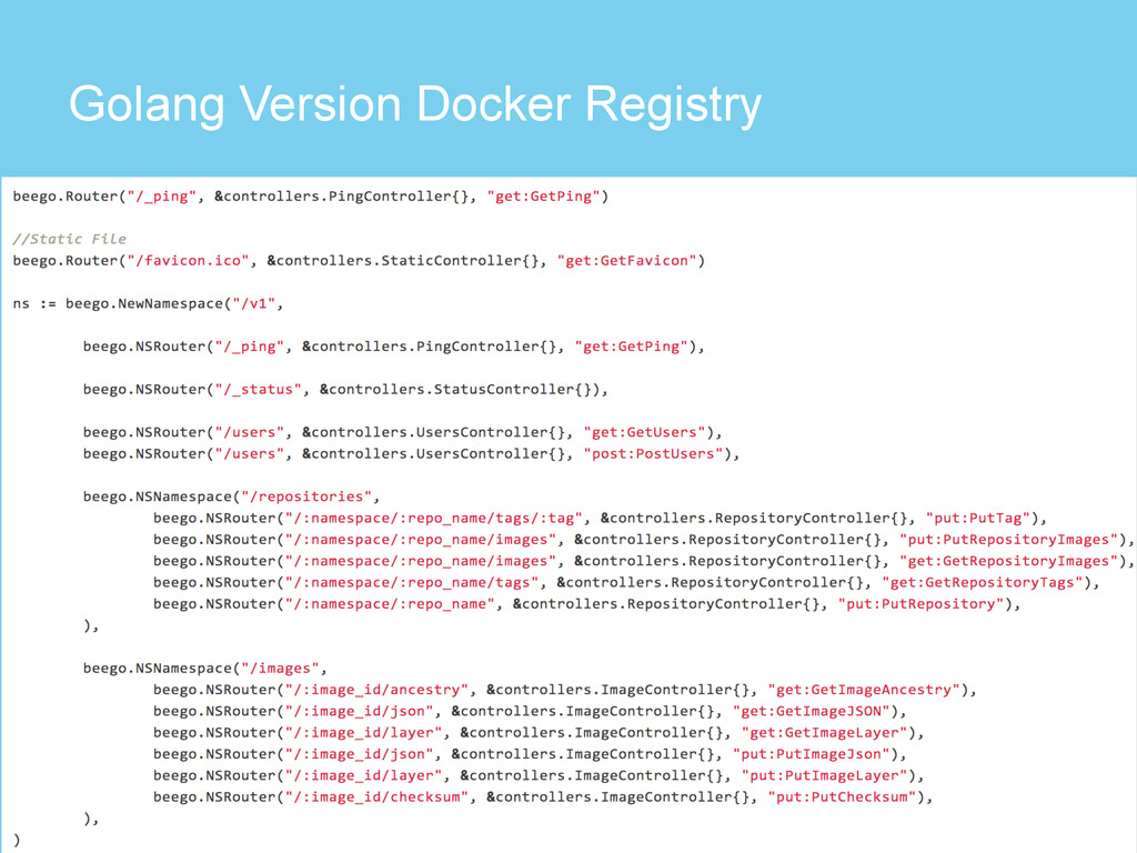 Golang Version Docker Registry