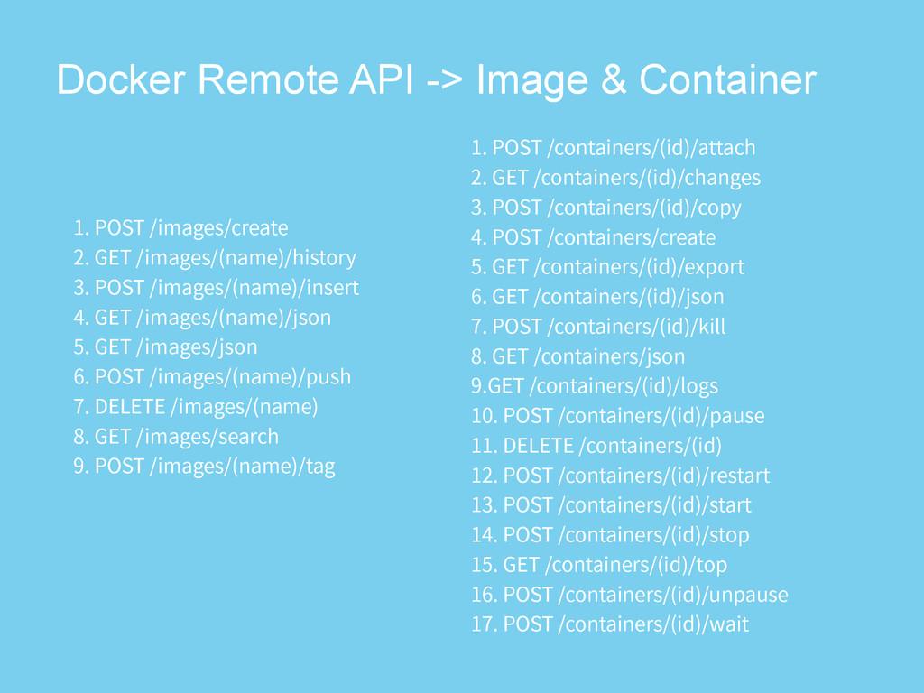 Docker Remote API -> Image & Container 1045...