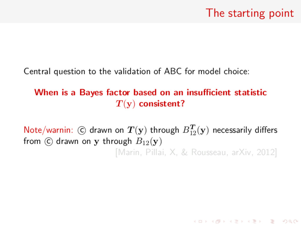 The starting point Central question to the vali...