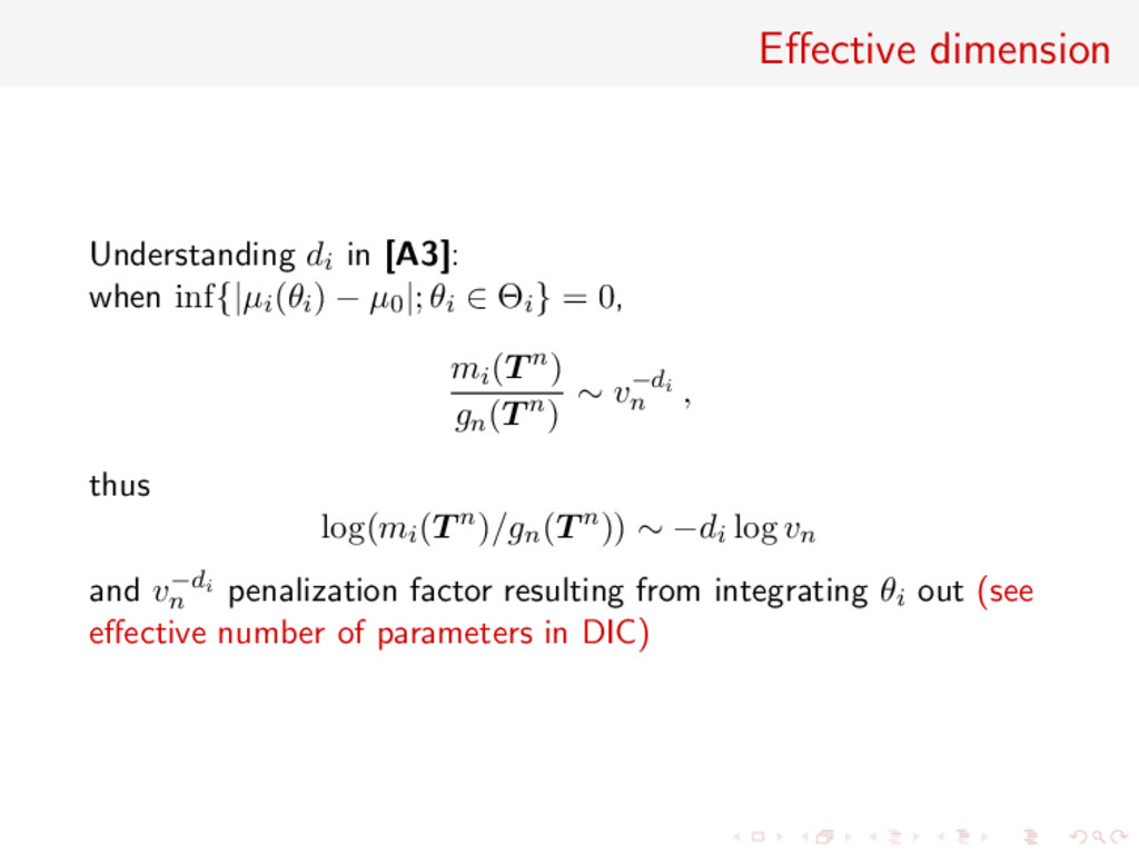 Effective dimension Understanding di in [A3]: wh...
