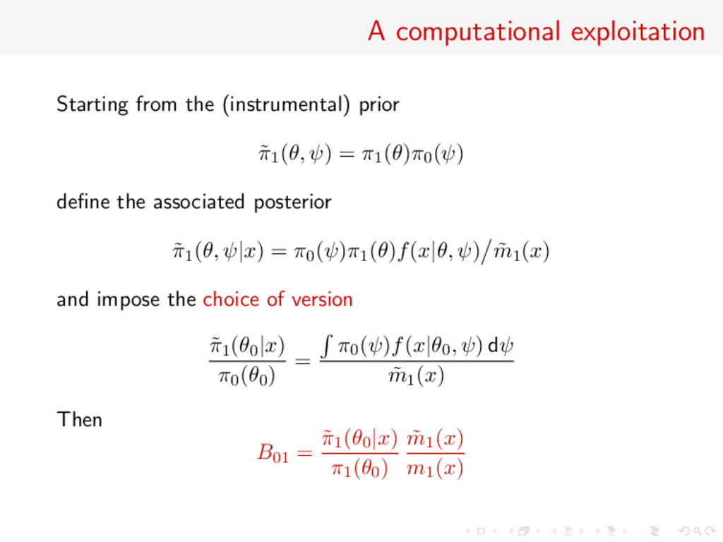 A computational exploitation Starting from the ...
