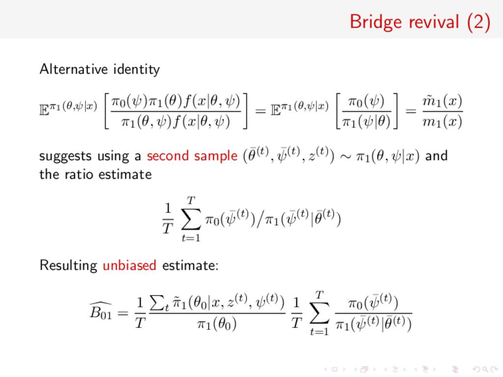 Bridge revival (2) Alternative identity Eπ1(θ,ψ...
