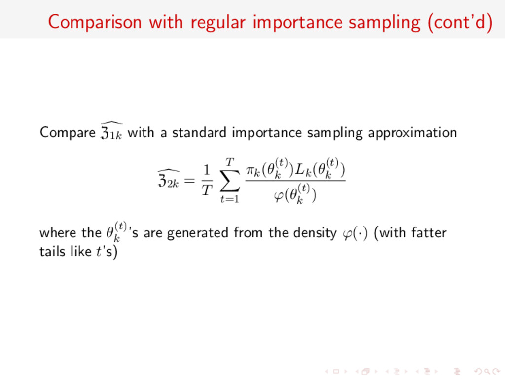 Comparison with regular importance sampling (co...