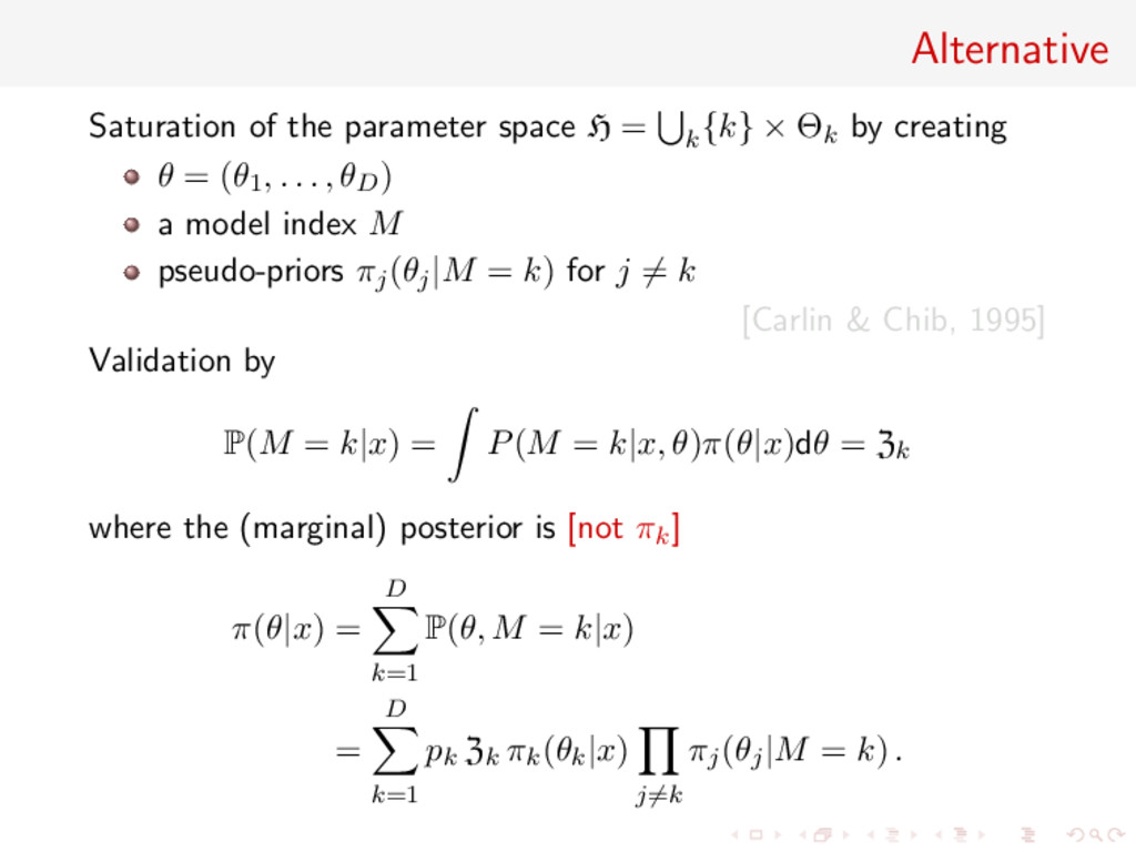 Alternative Saturation of the parameter space H...