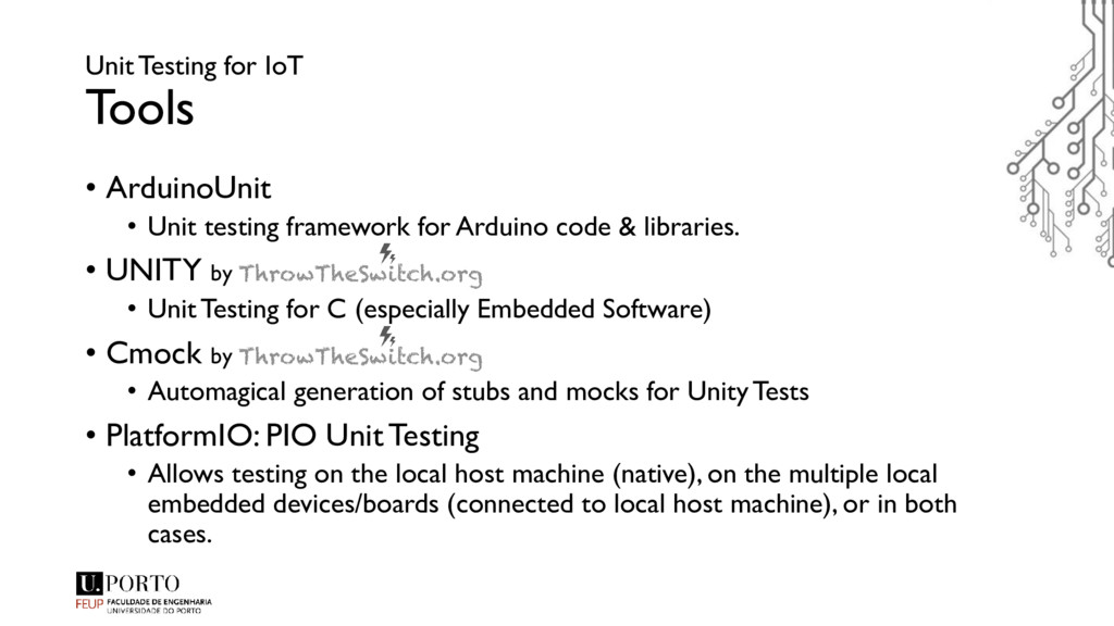 Unit Testing for IoT Tools • ArduinoUnit • Unit...