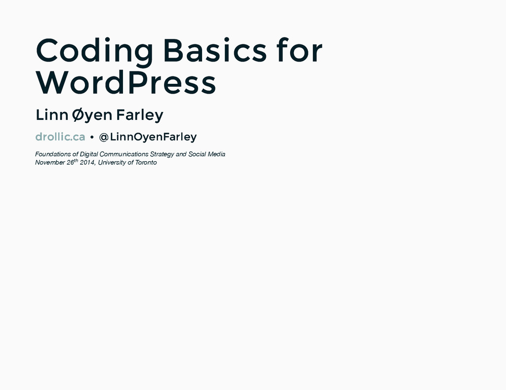 Coding Basics for Coding Basics for WordPress W...