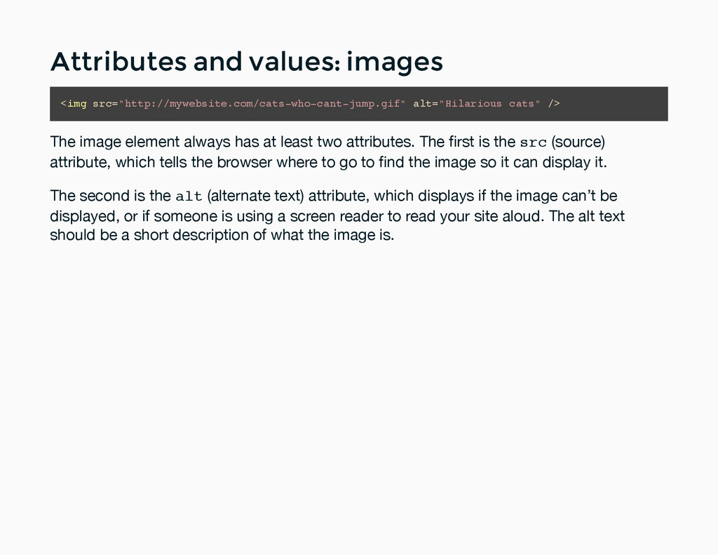 Attributes and values: images Attributes and va...