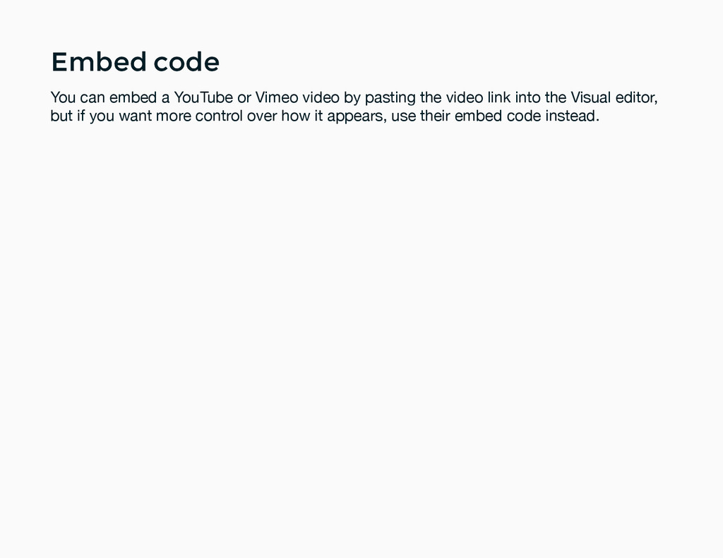 Embed code Embed code You can embed a YouTube o...