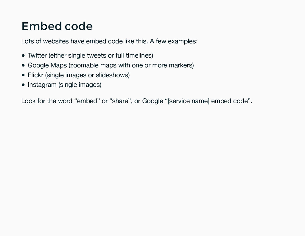 Embed code Embed code Lots of websites have emb...