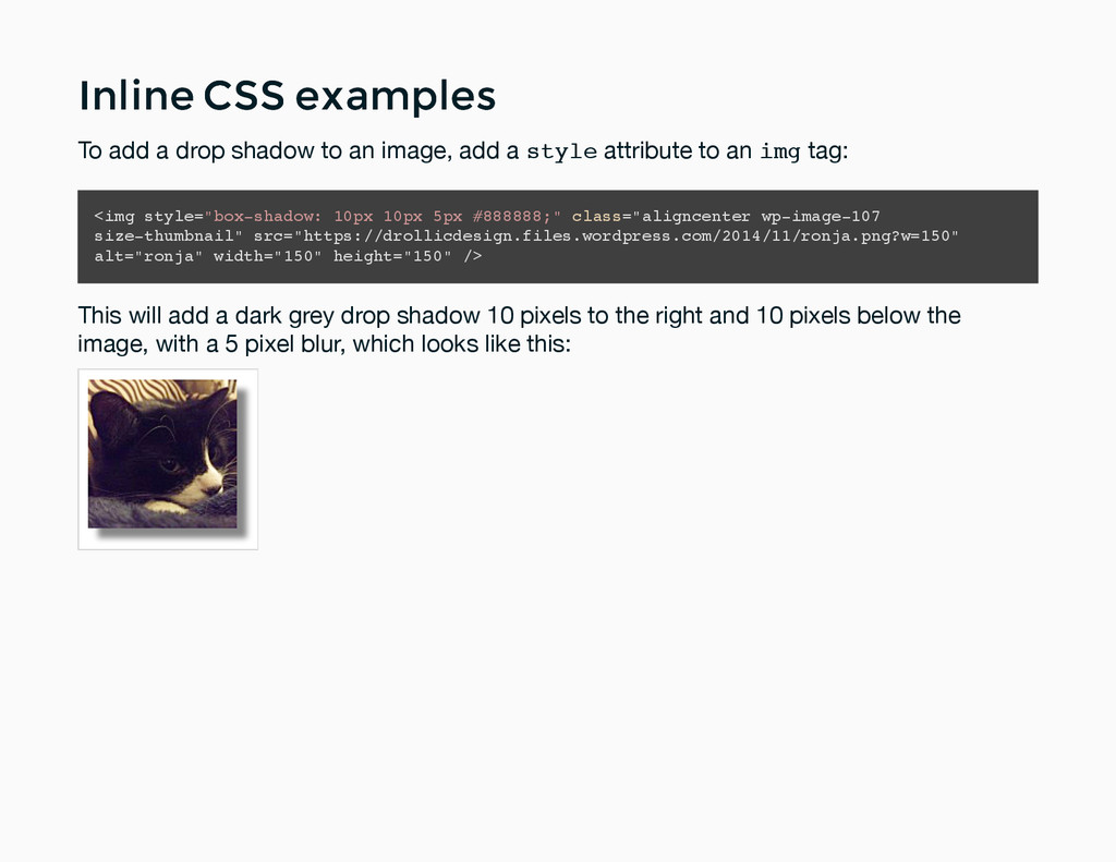 Inline CSS examples Inline CSS examples To add ...