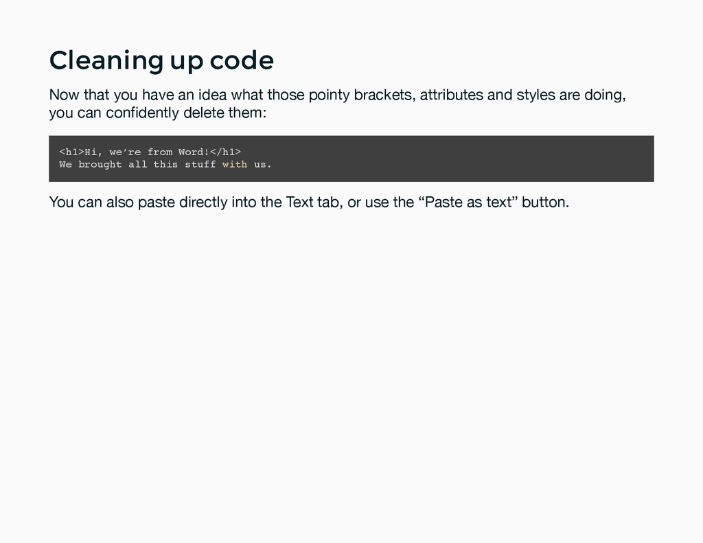 Cleaning up code Cleaning up code Now that you ...