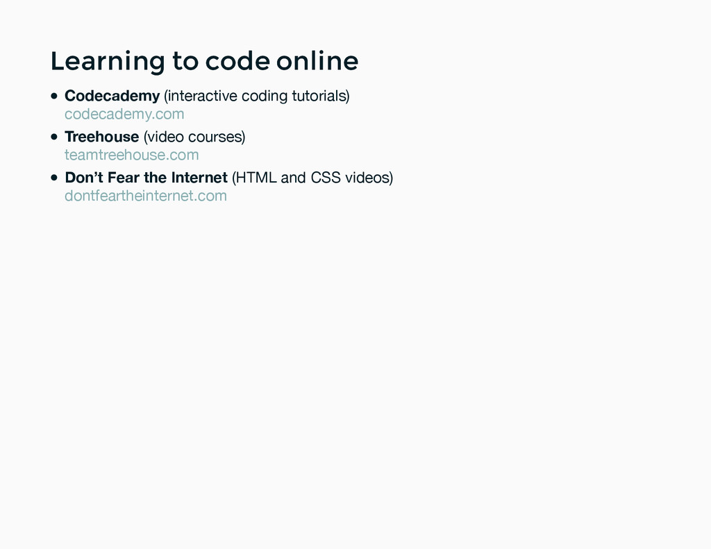 Learning to code online Learning to code online...