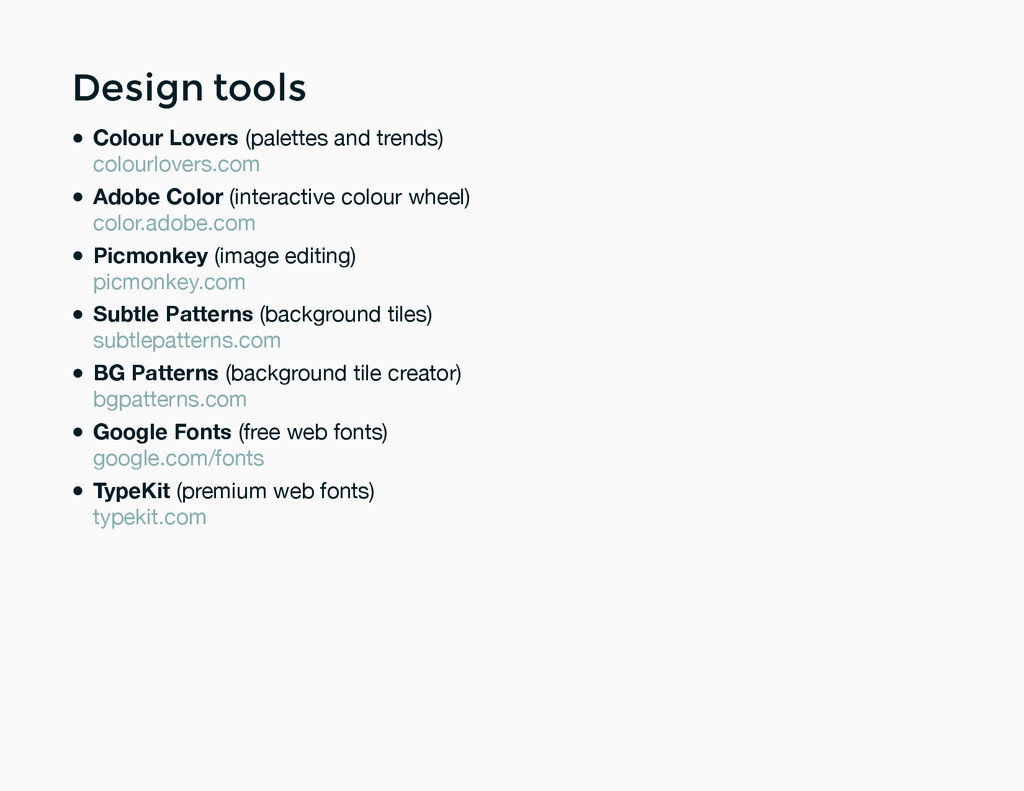 Design tools Design tools Colour Lovers (palett...