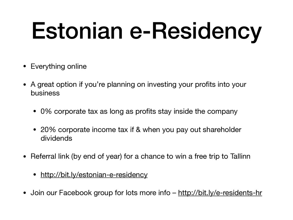 Estonian e-Residency • Everything online  • A g...