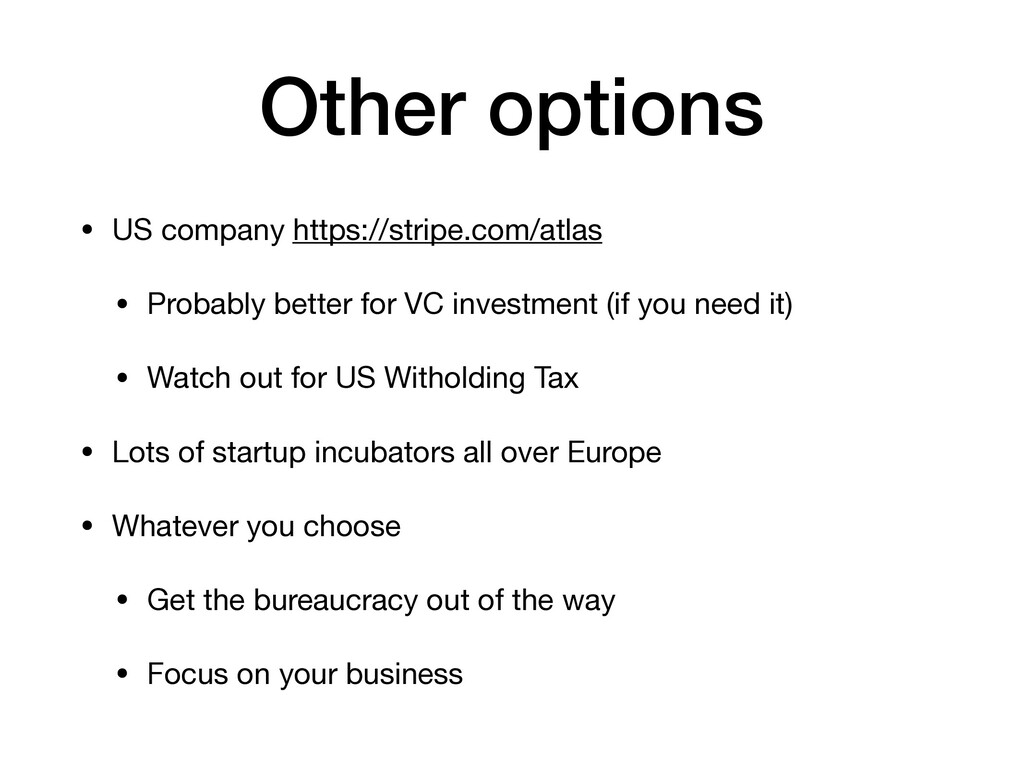 Other options • US company https://stripe.com/a...