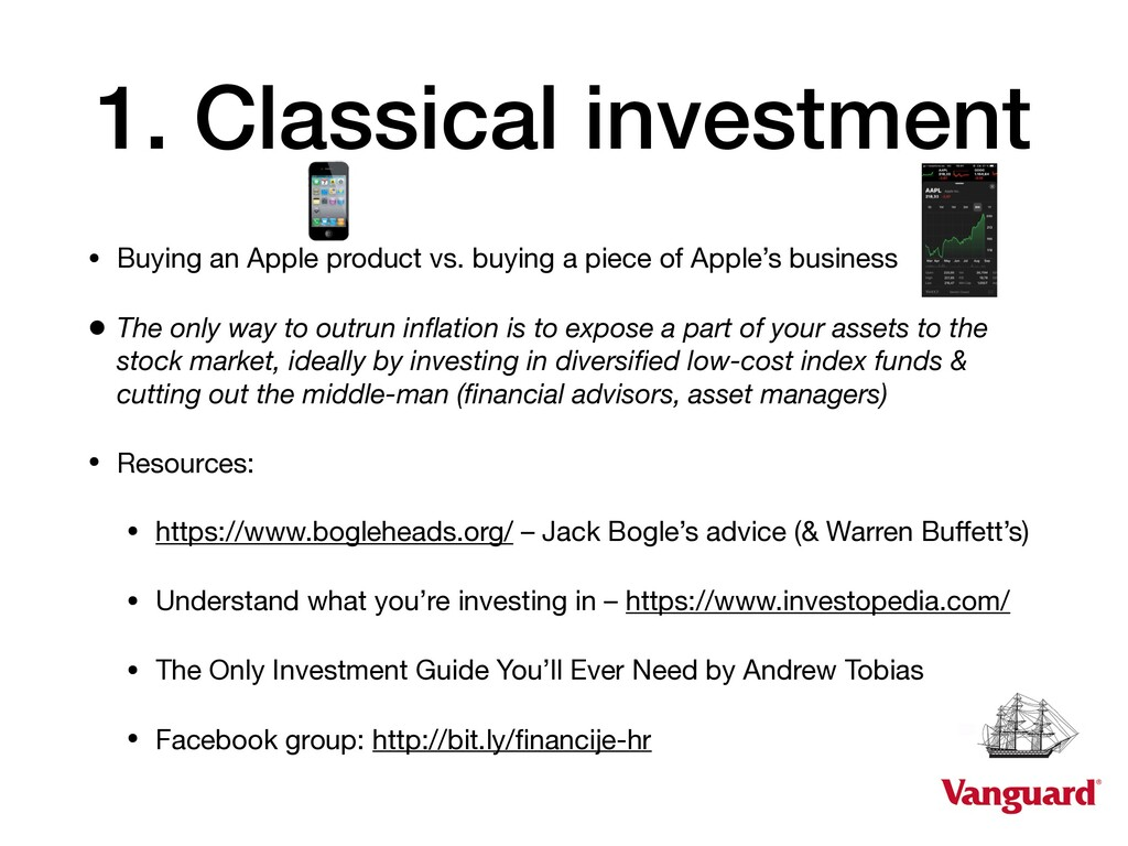1. Classical investment • Buying an Apple produ...