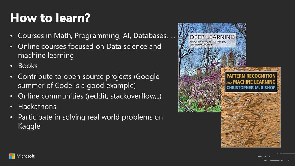 Microsoft • Courses in Math, Programming, AI, D...