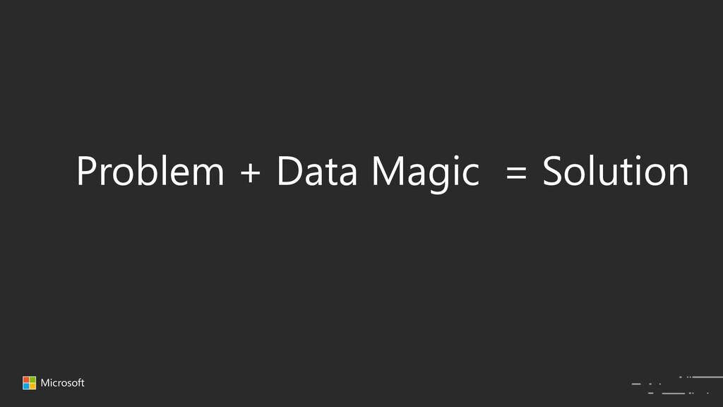 Microsoft Problem + Data Magic = Solution