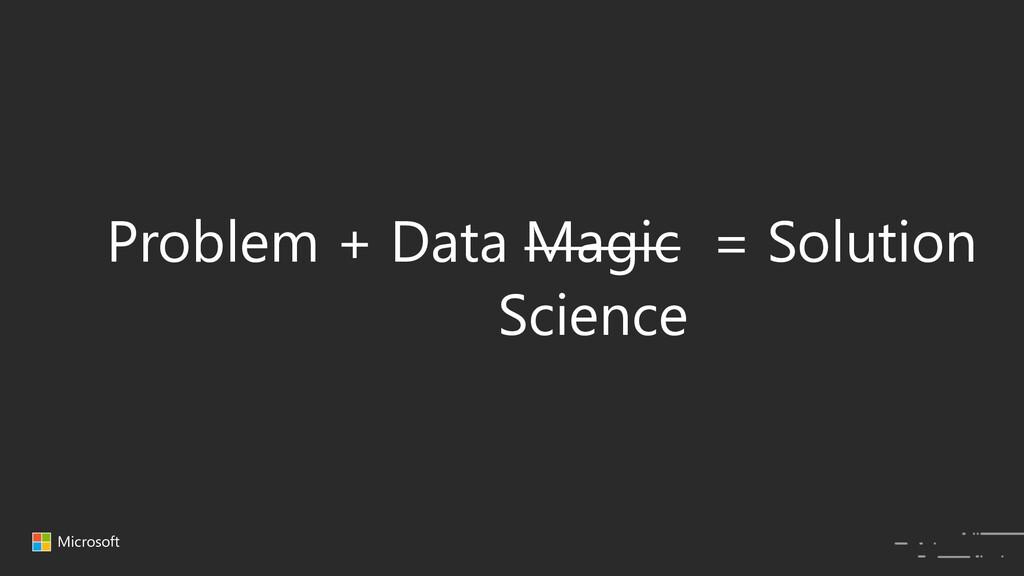 Microsoft Problem + Data Magic = Solution Scien...