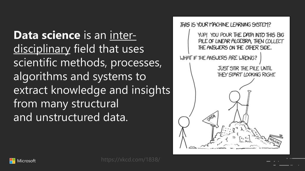 Microsoft Data science is an inter- disciplinar...