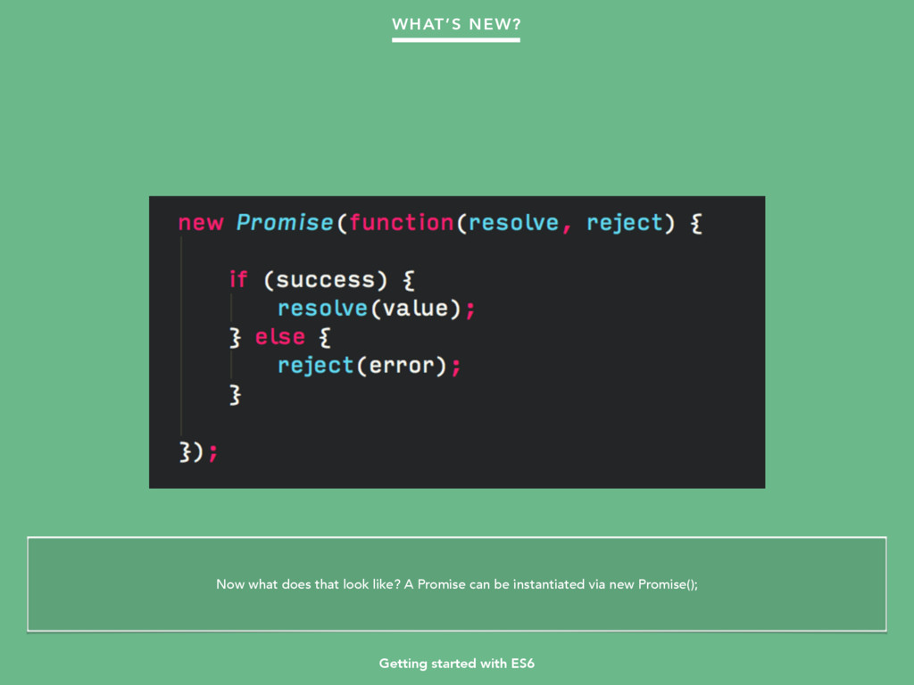 Getting started with ES6 WHAT'S NEW? Now what d...