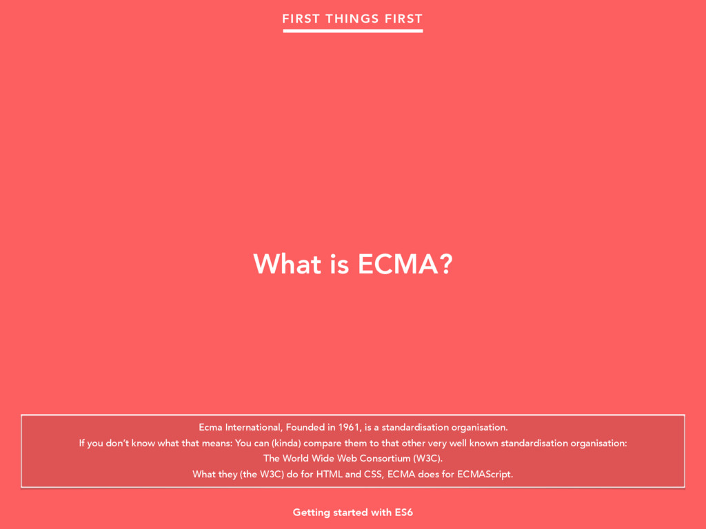 Ecma International, Founded in 1961, is a stand...