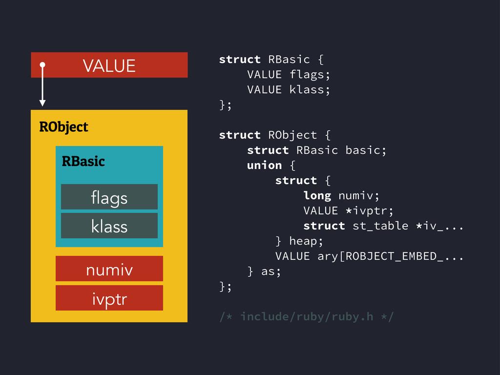 struct RBasic { VALUE flags; VALUE klass; }; st...