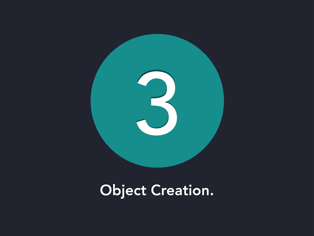 3 Object Creation.