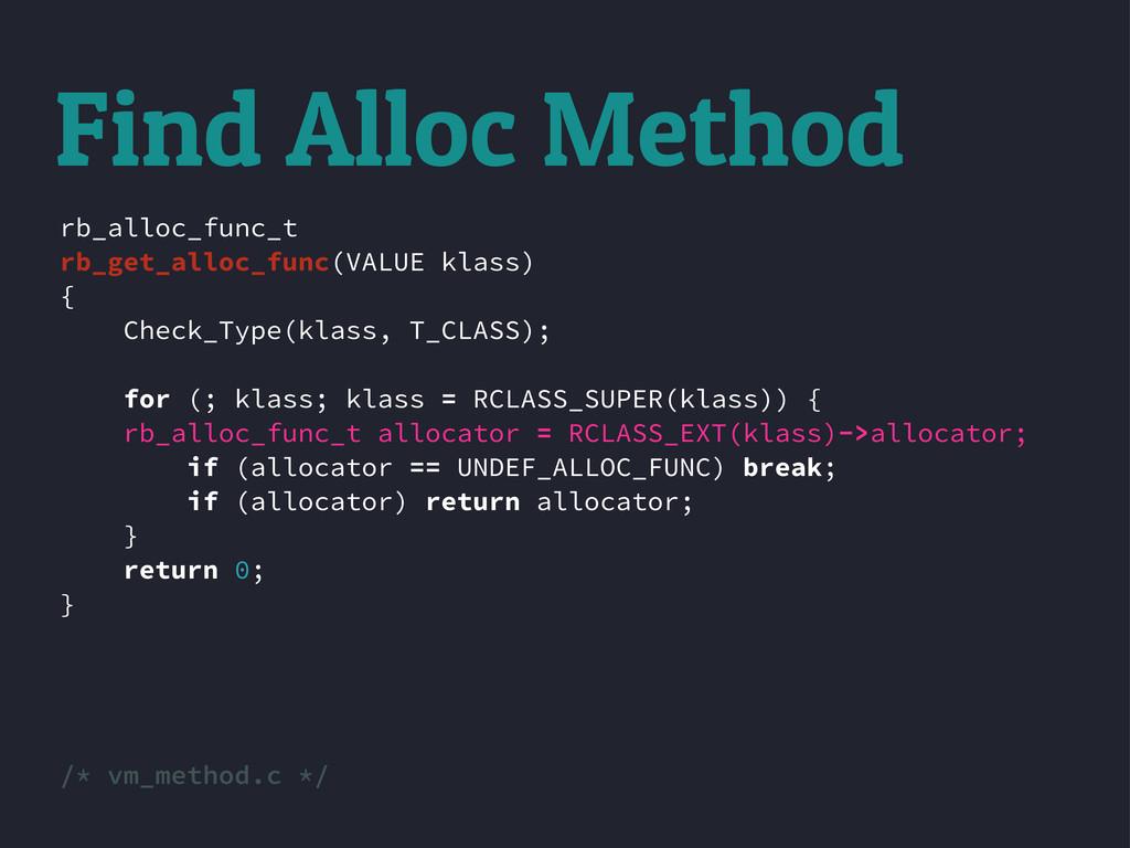 rb_alloc_func_t rb_get_alloc_func(VALUE klass) ...