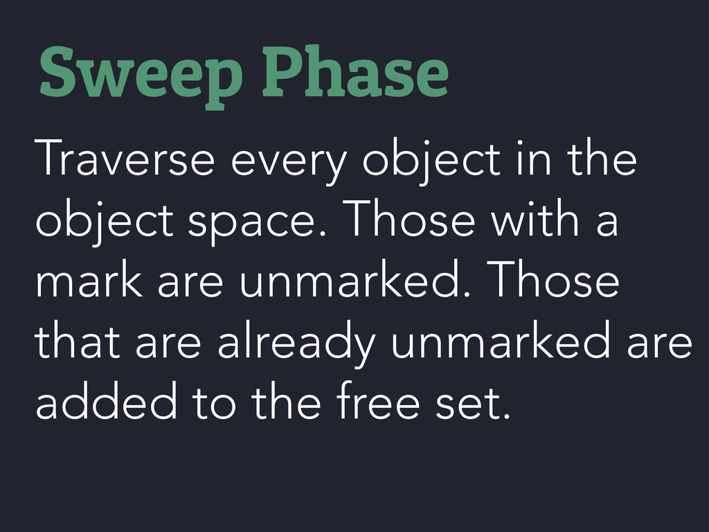 Traverse every object in the object space. Thos...