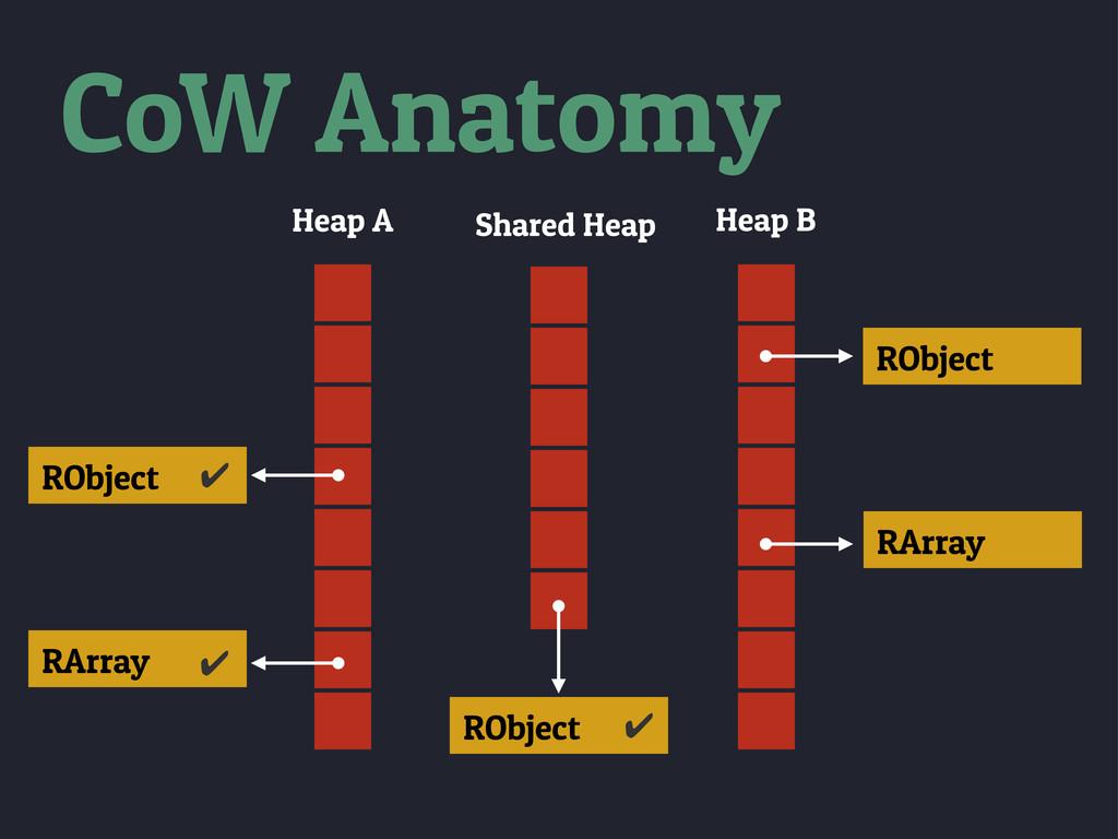 Heap B RObject RArray CoW Anatomy Heap A RObjec...