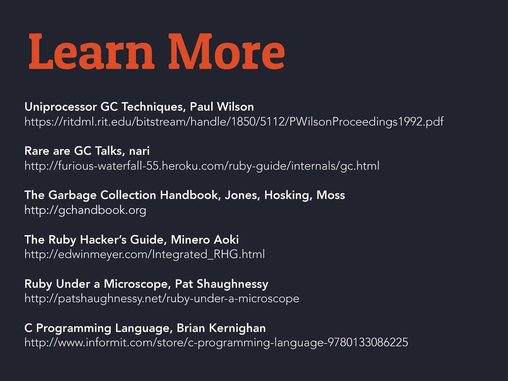 Uniprocessor GC Techniques, Paul Wilson https:/...
