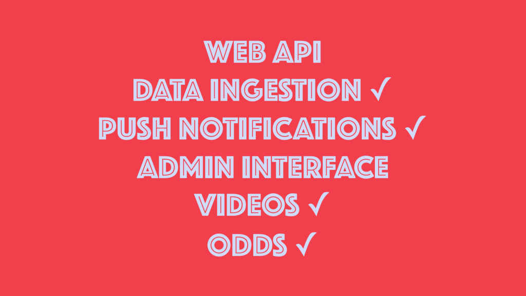 WEB API DATA INGESTION ✓ PUSH NOTIFICATIONS ✓ A...