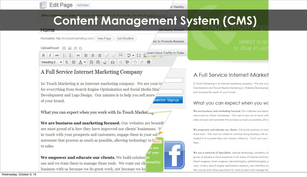 Content Management System (CMS) Wednesday, Octo...